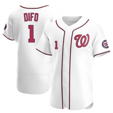 Authentic Wilmer Difo Men's Washington Nationals White Home Jersey