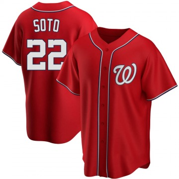 Replica Juan Soto Youth Washington Nationals Red Alternate Jersey